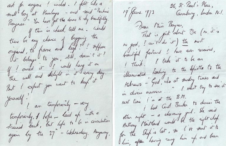 AUTOGRAPHED LETTER SIGNED (ALS). Richard ADAMS.