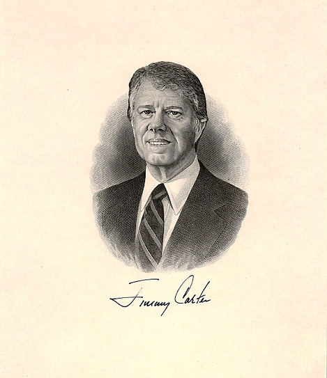 SIGNED ENGRAVING. Jimmy CARTER.