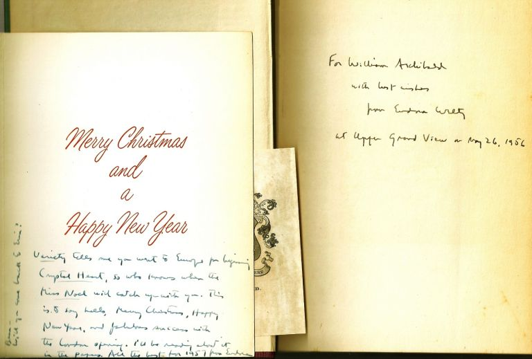 THE GOLDEN APPLES along with an AUTOGRAPH NOTE SIGNED (ANS). Eudora WELTY.