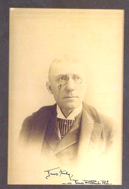 SIGNED PHOTOGRAPH. James Whitcomb RILEY.
