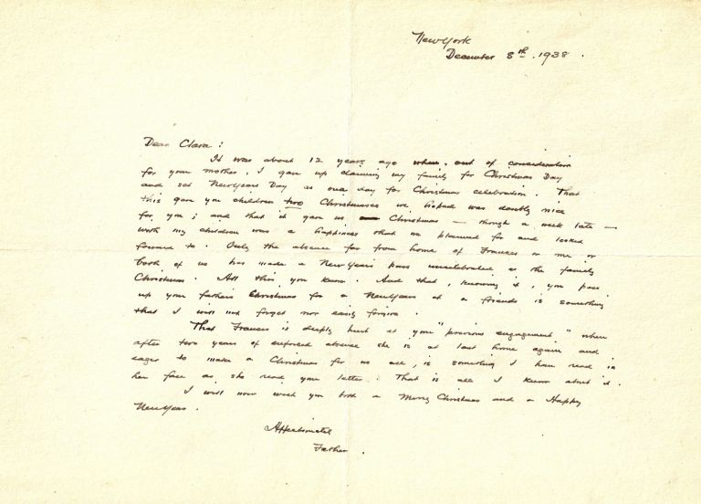 AUTOGRAPH LETTER SIGNED (ALS) TO HIS DAUGHTER. Rockwell KENT.