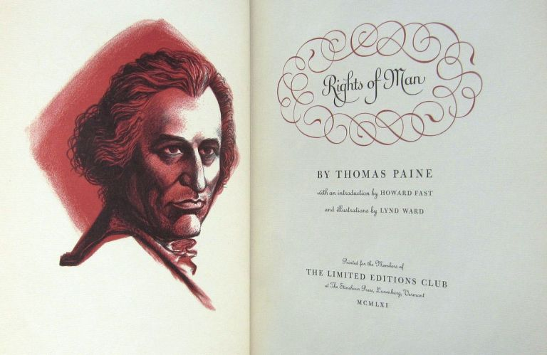 RIGHTS OF MAN. Thomas PAINE.