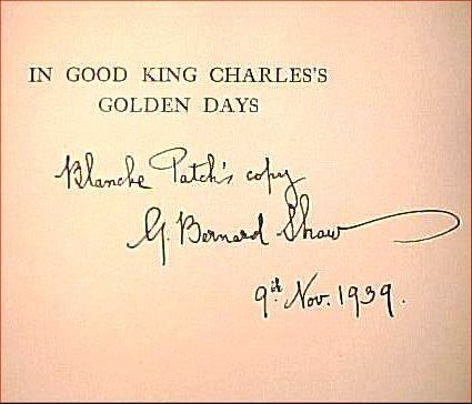 IN GOOD KING CHARLES'S GOLDEN DAYS. A HISTORY LESSON. George Bernard SHAW.