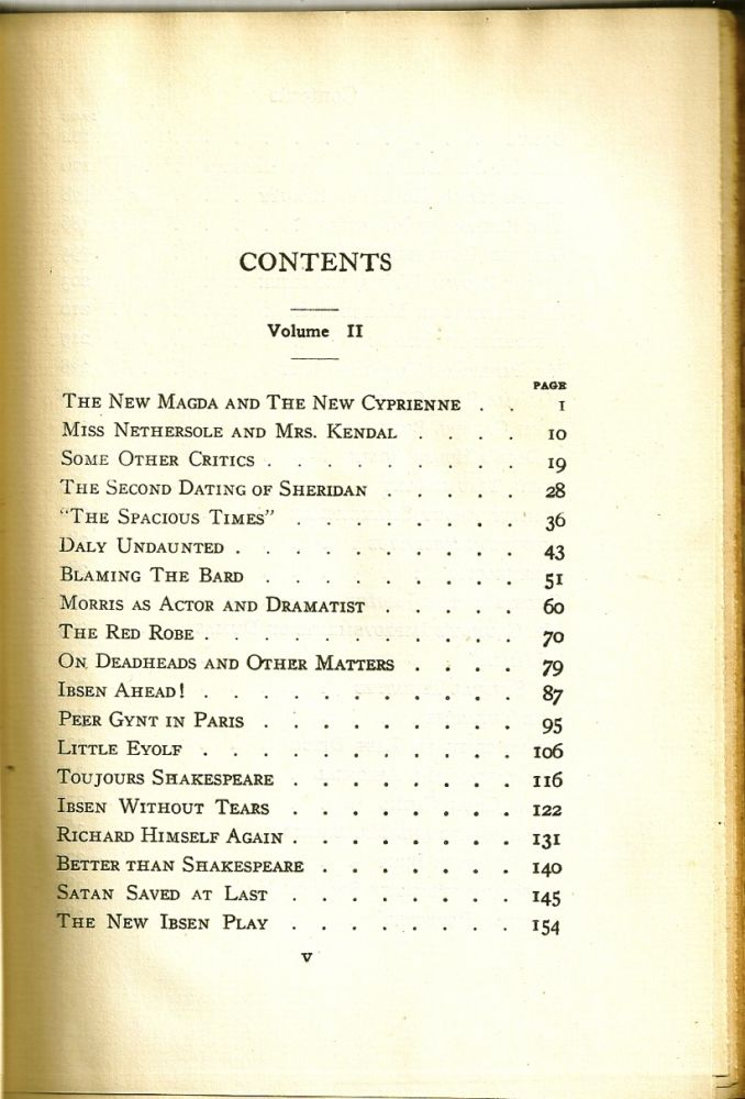 DRAMATIC OPINIONS AND ESSAYS. Volume II only. George Bernard SHAW.