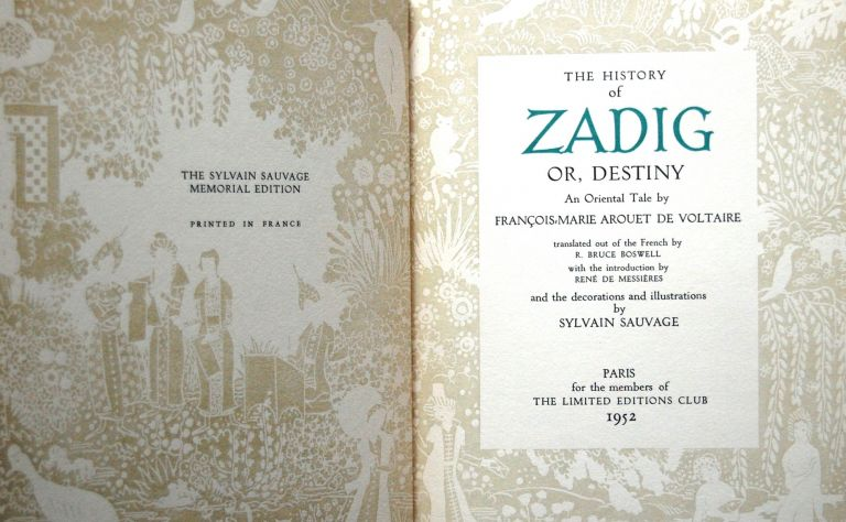 THE HISTORY OF ZADIG, OR DESTINY. VOLTAIRE.