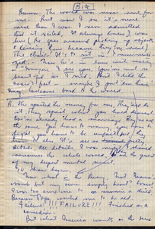 THE LAST ANALYSIS. HOLOGRAPH MANUSCRIPT OF SAUL BELLOW'S ONLY PLAY. Saul BELLOW.