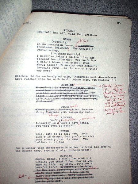 LARGE ARCHIVE OF TELEVISION TYPESCRIPTS, one SIGNED, with extensive corrections and annotations. Clifford ODETS.