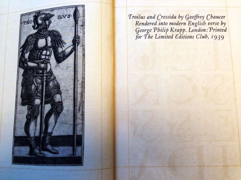 TROILUS AND CRESSIDA. Geoffrey CHAUCER.