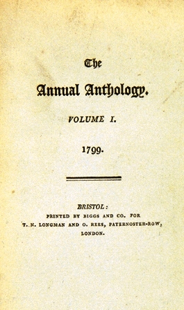 THE ANNUAL ANTHOLOGY in two volumes. Lord BYRON, et. al, Samuel Taylor COLERIDGE, Robert - SOUTHEY.