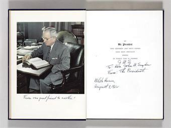 MR. PRESIDENT. THE FIRST PUBLICATION FROM THE PERSONAL DIARIES, PRIVATE LETTERS PAPERS AND REVEALING INTERVIEWS OF HARRY TRUMAN. Harry TRUMAN, William HILLMAN.