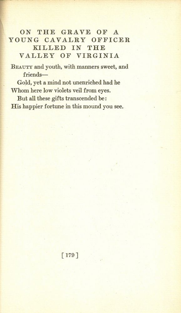 JOHN MARR AND OTHER POEMS. Herman MELVILLE.