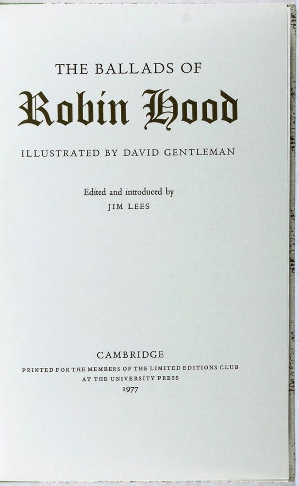 THE BALLADS OF ROBIN HOOD