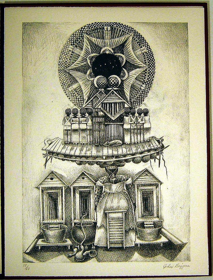 FIVE LITHOGRAPHS for OUR GRANDMOTHERS. John BIGGERS, Maya ANGELOU.