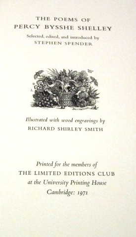 THE POEMS OF PERCY BYSSHE SHELLEY. SHELLEY, sshe.