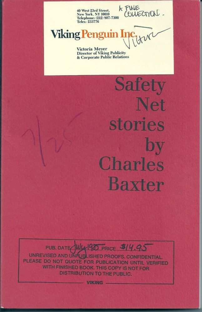 THROUGH THE SAFETY NET. Charles BAXTER.
