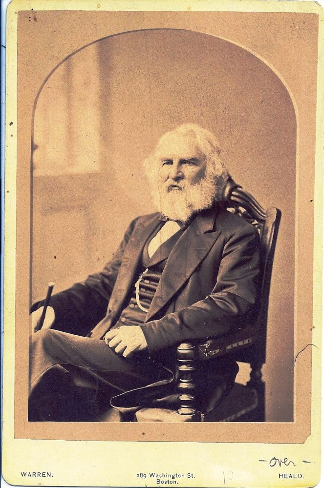 SIGNED CABINET CARD PHOTOGRAPH. Henry Wadsworth LONGFELLOW.