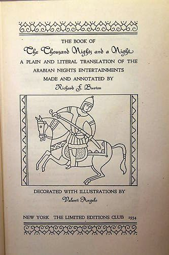THE BOOK OF A THOUSAND NIGHTS AND A NIGHT. A Plain and Literal Translation of the Arabian Nights Entertainments. Sir Richard BURTON.