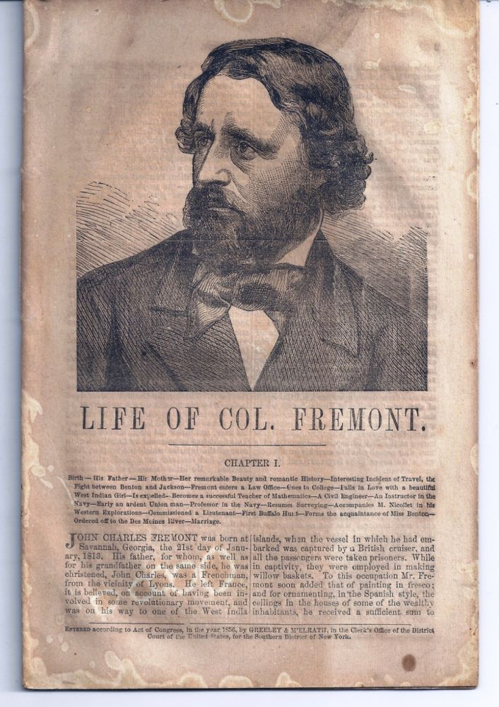 LIFE OF COL. FREMONT. Horace GREELEY.