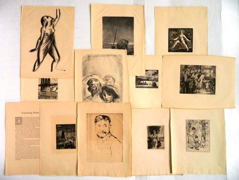 TWELVE PRINTS BY CONTEMPORARY AMERICAN ARTISTS. Rockwell KENT, John SLOAN, et. al.