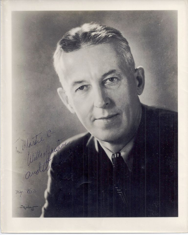 SIGNED PHOTOGRAPH. ALCOHOLICS ANONYMOUS, Bill WILSON.