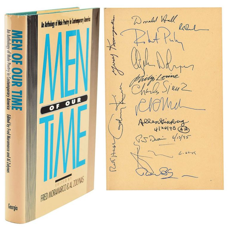 MEN OF OUR TIME. AN ANTHOLOGY OF MALE POETRY IN CONTEMPORARY AMERICA. Robert BLY, Allen GINSBERG, Donald HALL, Philip LEVINE, et. al, Fred MORAMARCO, Al ZOLYNAS.