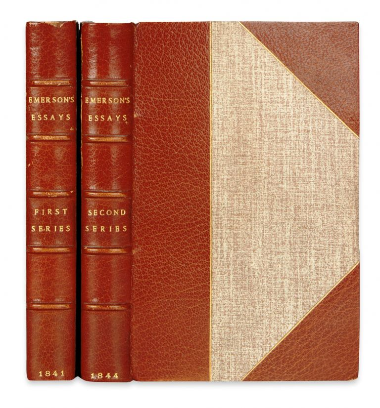 ESSAYS: with ESSAYS: SECOND SERIES. Ralph Waldo EMERSON.