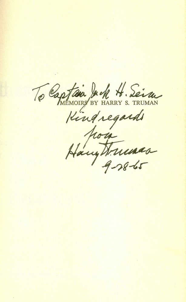 MEMOIRS. YEAR OF DECISIONS and YEARS OF TRIAL AND HOPE, both volumes SIGNED. Harry TRUMAN.