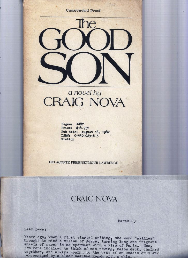 THE GOOD SON. Craig NOVA.