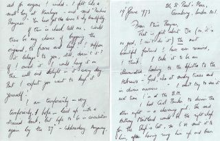 AUTOGRAPHED LETTER SIGNED (ALS). Richard ADAMS
