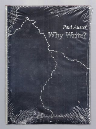 WHY WRITE? Paul AUSTER