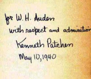 FIRST WILL & TESTAMENT. W. H. AUDEN, Kenneth PATCHEN