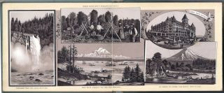 VIEWS OF COLUMBIA RIVER, PUGET SOUND AND ALASKA