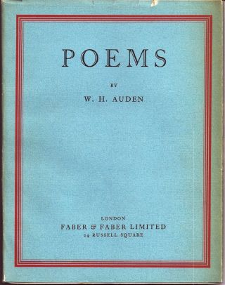 POEMS. W. H. AUDEN