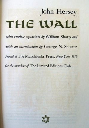 THE WALL. John HERSEY