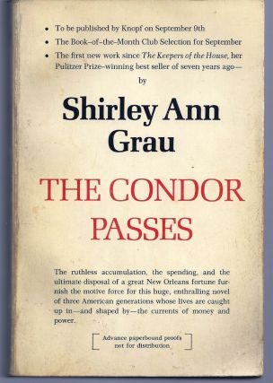 THE CONDOR PASSES. Shirley Ann GRAU