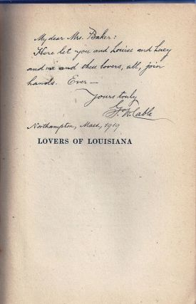 LOVERS OF LOUISIANA (TO-DAY). George W. CABLE