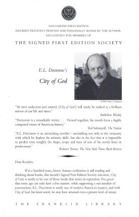 CITY OF GOD. E. L. DOCTOROW