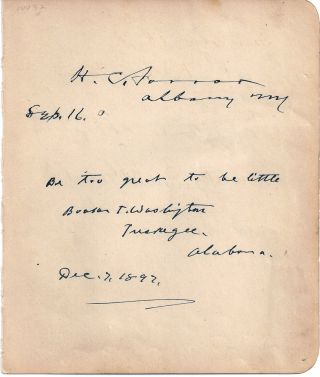 AUTOGRAPH QUOTE SIGNED (AQS). Booker T. WASHINGTON