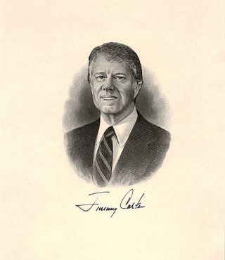 SIGNED ENGRAVING. Jimmy CARTER