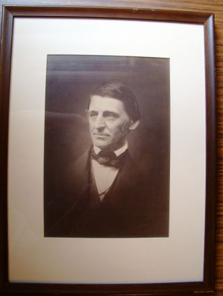 PHOTOGRAPH OF RALPH WALDO EMERSON. Ralph Waldo EMERSON, Josiah Johnson HAWES, Albert Sands...
