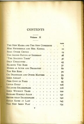 DRAMATIC OPINIONS AND ESSAYS. Volume II only. George Bernard SHAW