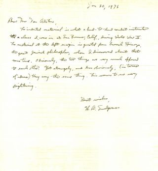 ARCHIVE of TYPED LETTER SIGNED (TLS), TWO AUTOGRAPHED LETTERS SIGNED (ALSs) and a TYPED...