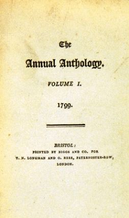 THE ANNUAL ANTHOLOGY in two volumes. Lord BYRON, et. al, Samuel Taylor COLERIDGE, Robert - SOUTHEY