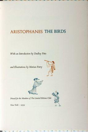 THE BIRDS. ARISTOPHANES