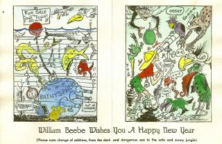 ARCHIVE of 24 Christmas and New Year Greeting Cards. William BEEBE, Elswyth THANE