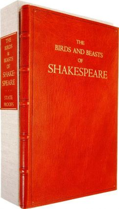 THE BIRDS AND BEASTS OF SHAKESPEARE. CHELONIIDAE PRESS, William SHAKESPEARE, Alan James ROBINSON