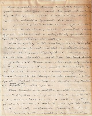 AUTOGRAPH MANUSCRIPT (AM): Two Pages from JACK AND JILL: A VILLAGE STORY. Louisa May ALCOTT