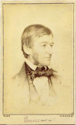 SIGNED PHOTOGRAPH. Ralph Waldo EMERSON