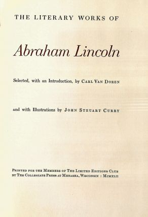 THE LITERARY WORKS OF ABRAHAM LINCOLN