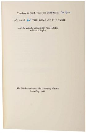 VOLUSPA: THE SONG OF THE SYBIL. W. H. AUDEN, Paul B. TAYLOR